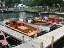 The Skaneateles Antique and Classic Boat Show.