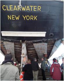 Restoration under way on Hudson River Sloop CLEARWATER