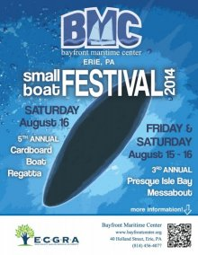 Bayfront Maritime Center's Small Boat Festival poster