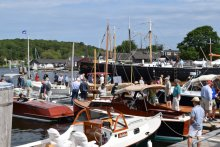 The WoodenBoat Show at Mystic Seaport.