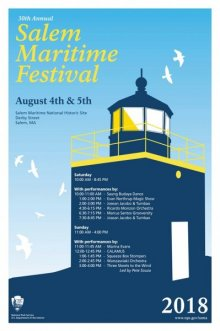 30th Annual Salem Maritime Festival. Design/artwork by Cailee Mitchell.