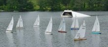 Radio-controlled US 12 model yachts.