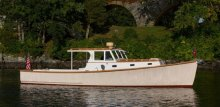 VIM: 1957 Downeast lobster yacht. Photo courtesy Artisan Boatworks.