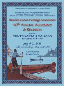 Wooden Canoe Heritage Association 40th Annual Assembly & Reunion