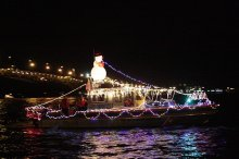 Yorktown, Virginia, Lighted Boat Parade. Photo courtesy http://www.yorkcounty.gov/