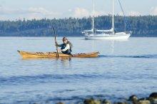 Selkie wooden kayak.
