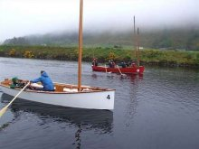 The Goat Island Skiff works well whether Rowing or Sailing. Light and simple outperforms heavy and complicated