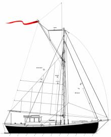 Kahuna Nui 37' pilothouse cruising sailboat for wood/epoxy construction