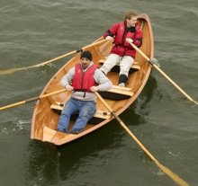 Tandem Rowing the Dory