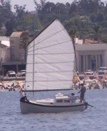 Swaggie under sail in Uruguay