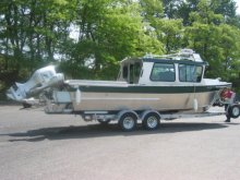 23' Sitka with outboard bracket