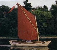 Stickleback Dory (Amberjack) sailing