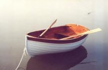 OUGHTRED Acorn Dinghy (Auk) in water