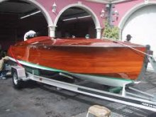 Palm Beach Runabout on trailer