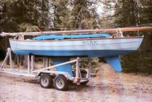 22' Fox Island Class on trailer
