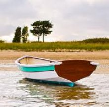 Shellback Dinghy in water