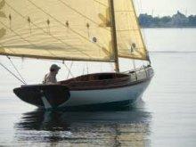"20' 3"" Flatfish Class Sloop in water"