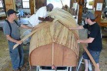 Catboat Tom Cat building