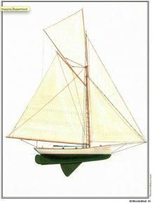 Half Model Plan SHADOW sail plan
