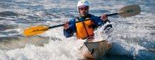 Kayak Surfing the Pinguino 145