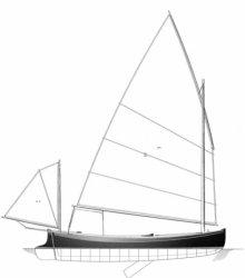 SIRI balanced-lug yawl rig