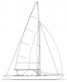 K-6m Sail Plan