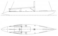 6 Meter Racing Yacht Deck Plan