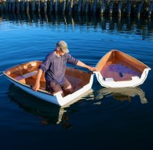PT Watercraft 's PT 11 nesting dinghy assembles in or out of the water