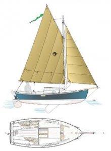 The Eider sailboat.