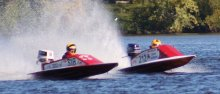 Mini Vees battle in APBA-sanctioned racing