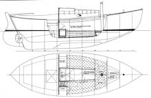 Alden 21' Double-Ender profile and overhead