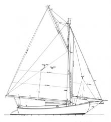 25' Keel/Centerboard Sloop profile
