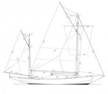 Day - Mower 25' Sea Bird Yawl profile
