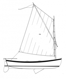 12' Catspaw Dinghy profile