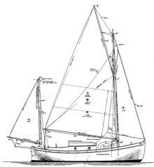 Williams 24' Gaff Yawl profile