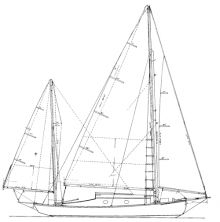 25' Sea Bird Yawl profile