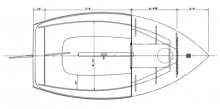 Wittholz 14' 11'' Catboat overhead