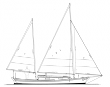 "32' 5"" Sharpie Ketch, TWO LUCYS profile"