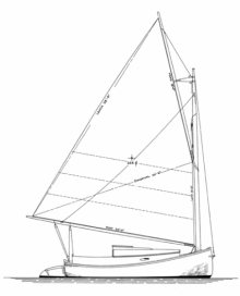 18' Catboat profile