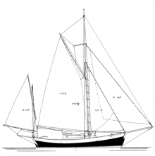 "22' 11"" Yawl BLUE MOON profile"