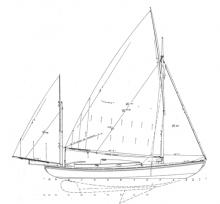 Canoe Yawl WENDA profile
