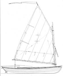 """13' 4"""" Melonseed skiff profile"""