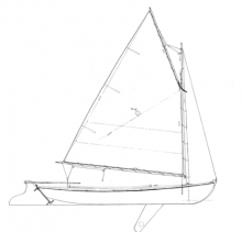 16' Melonseed Skiff profile