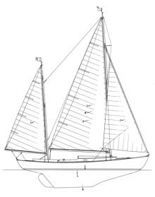 28' Canoe Yawl, Rozinante profile