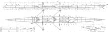 27' 2 Person Rowing Shell, Kookaburra profile
