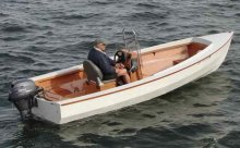 Classy and fuel efficient PT Skiff from Port Townsend Watercraft