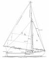 Alden 18' O Boat profile