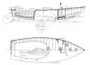 Alden 18' O Boat overhead and side profile