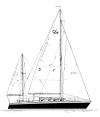 """37' 3"""" Yawl,  Controversy 36 profile"""