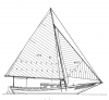 "24' 8""   Skipjack, CALICO JACK profile"